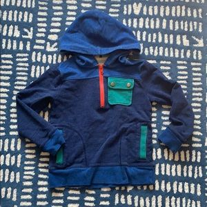 Crewcuts Boy's color block hooded sweater